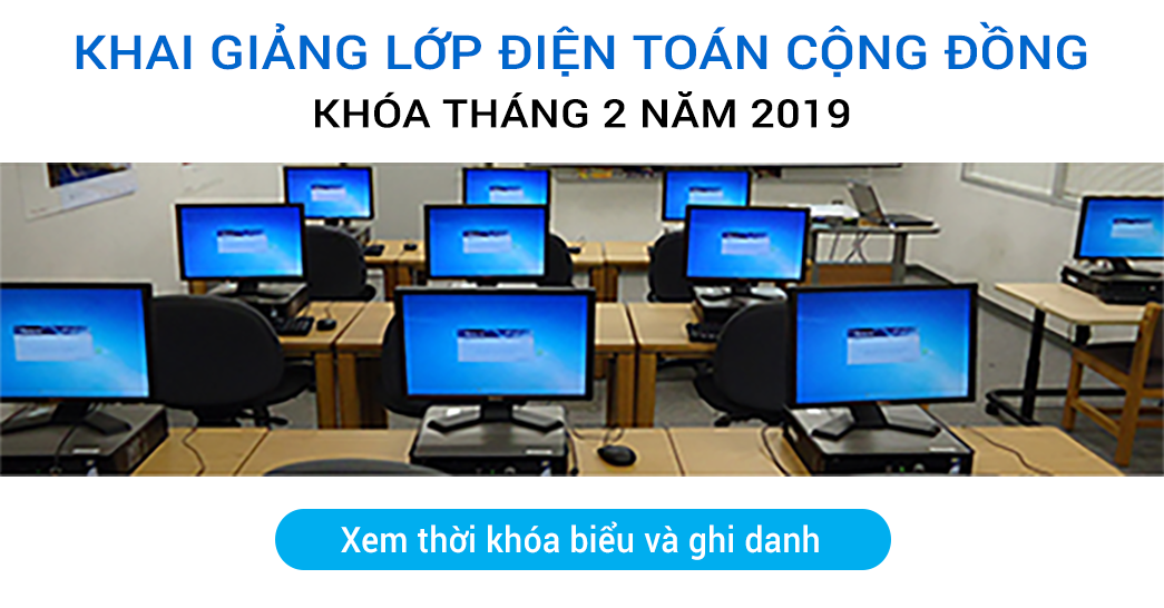Lớp Điện Toán Cộng Đồng Khóa tháng 2, 2019