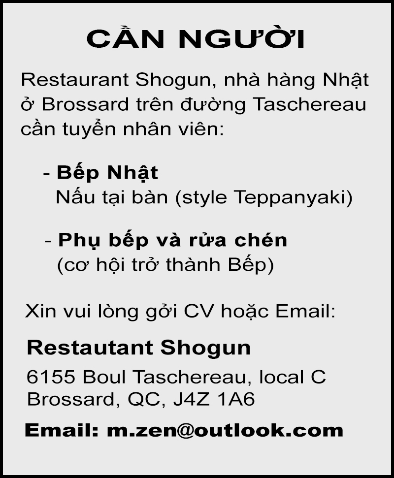 Restaurant Shogun – After Post