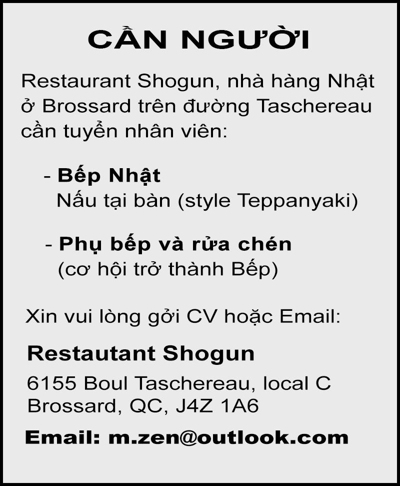 Restaurant Shogun – After Post