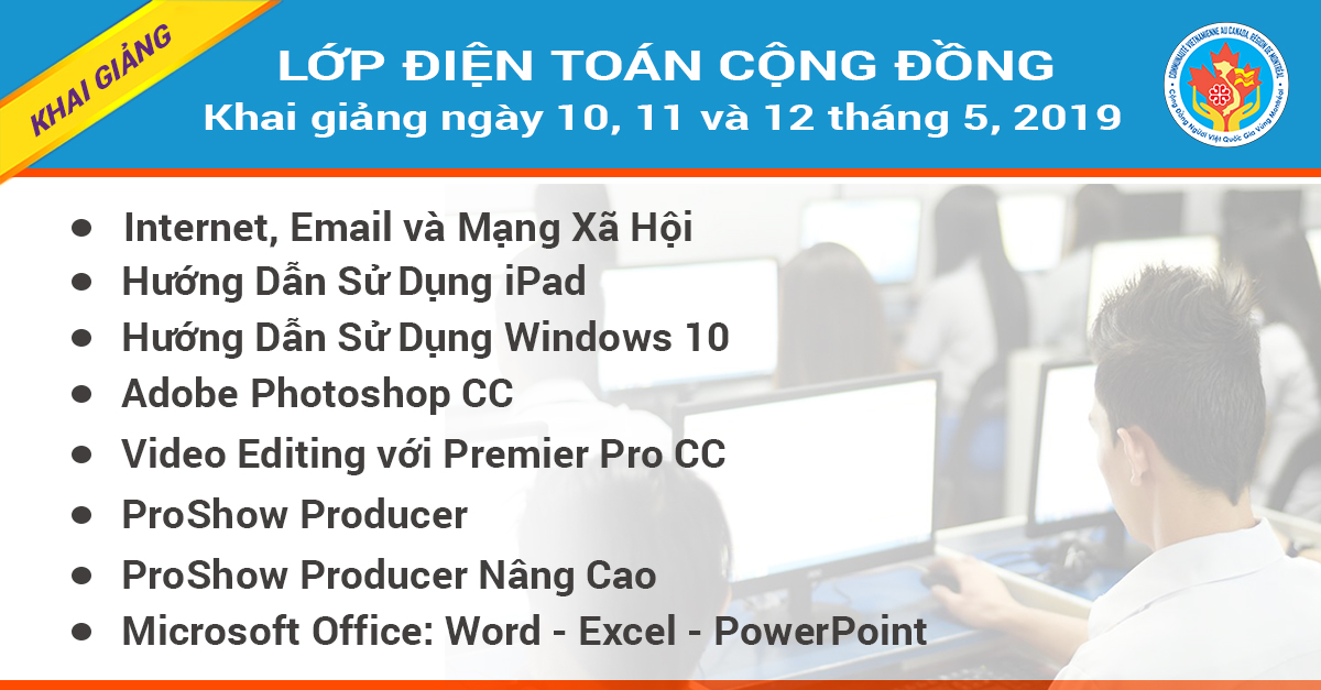Khai Giảng Lớp Điện Toán Cộng Đồng Khóa 5-2019